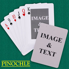 Classic Custom 2 Sides Pinochle Playing Cards
