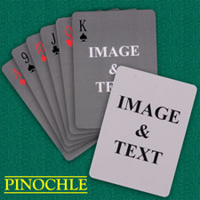 Simple Custom 2 Sides Pinochle Playing Cards