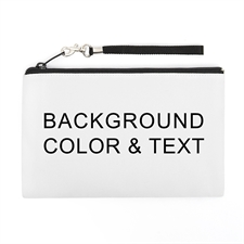 Personalized Background Color & Text (2 Side Different Image) Wristlet Bag (Medium Inch)