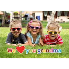 Mother's Day Grandma Hearts 3D Photo Card