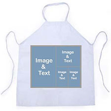 Four Silver Grey Collage Apron