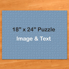 Jumbo 500 Pc Photo Puzzle 18x24, Personalized Box