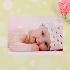 Memorable Moment Baptism Photo Invitation