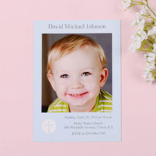 Shining Day – Boy Communication Photo Invitation