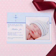 Perfect Angle - Stream Baptism Photo Invitation