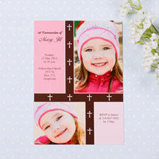 Organic Cross – Girl Collage Communication Invitation