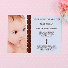 Child of God – Boy Baptism Photo Invitation