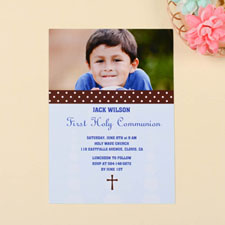 Sweet Polka Dots – Coast Communication Photo Invitation