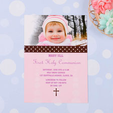 Sweet Polka Dots – Bloom Communication Photo Invitation