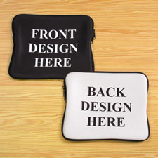 """Print Your Design 2-Side 9""""x11.25"""" Laptop Sleeve"""