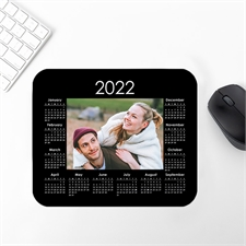 Custom Print Photo Mouse Pad 2020 Calendar, Black