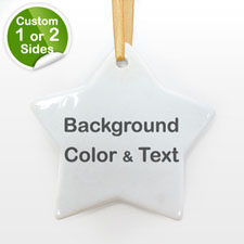 Your Text Personalized Star (Custom 1-Side)