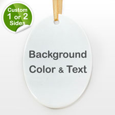 Your Text Personalized Oval (Custom 1-Side)