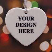 Custom Ceramic Heart Ornament