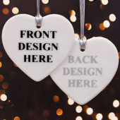 Custom Front & Back Heart Ornament