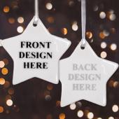 Custom Front & Back Star Ornament