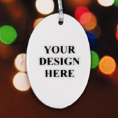 Custom Ceramic Oval Ornament