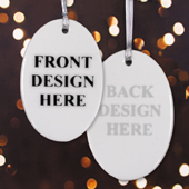 Custom Front & Back Oval Ornament