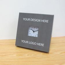 Custom Printed Your Design & Logo Desk Clock