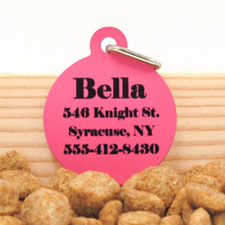 Hot Pink Personalized Message Ornament