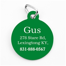 Christmas Green Personalized Message Ornament