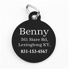 Classic Black Personalized Message Ornament
