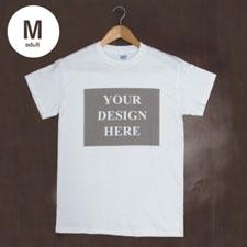 Custom Print White Landscape Image Adult Medium T Shirt