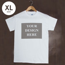 Custom Gildan 100% Cotton (White - Landscape Image), Adult X-Large