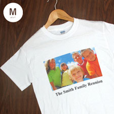 Custom Print Cotton White Image & Text Adult Medium T Shirt