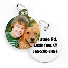 Personalized Round Pet Tag (Custom 2-Sides)