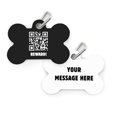 Personalized Bone Pet Tag (Custom 2-Sides)