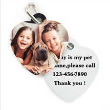 Personalized Heart Pet Tag (Custom 2-Sides)