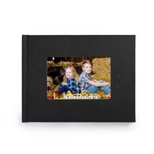8.5x11 Black Linen Hard Cover