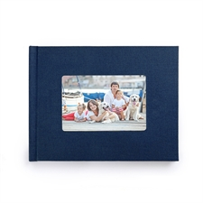 8.5x11 Navy Linen Hard Cover