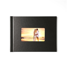 8.5x11 Black Leather Hard Cover
