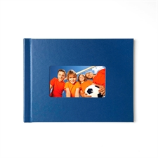 8.5x11 Navy Leather Hard Cover
