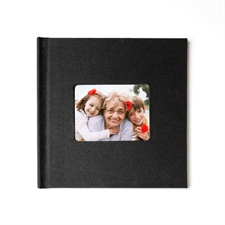 12x12 Black Linen Hard Cover