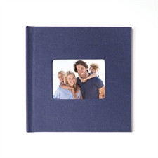 12x12 Navy Linen Hard Cover