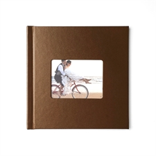 12x12 Brown Leather Hard Cover