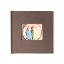 8x8 Brown Linen Hard Cover