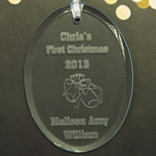 Baby's 1st Christmas Personalized Glass Ornament