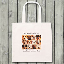 Twelve Photo Collage Budget Tote Canvas Bag
