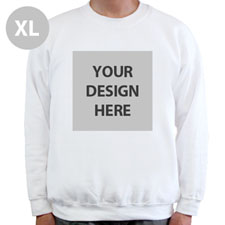 Create Your Own Personalized Photo White Xl Sweatshirt