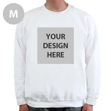 Design Your Own Personalized Photo White M Sweatshirt