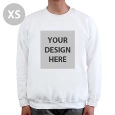 Design Your Personalized Photo White Xs Sweatshirt