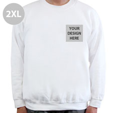 Custom Design Print Your Logo White Sweatshirt 2XL