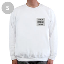 Personalized Print Your Logo White Sweatshirt, S