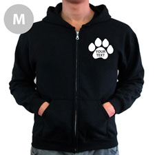 Paw Print Custom Words Back Medium Hoodies