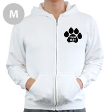 Paw Print Custom Full Zipped Hoodies Medium