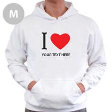 Personalized I Love (Heart) White Medium